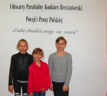 V Otwarty Parafialny Konkurs Recytatorski Poezji i Prozy Polskiej