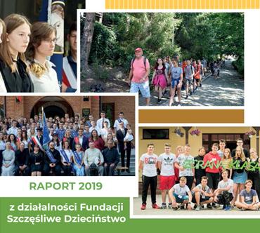 Raport z działalności Fundacji Szczęśliwe Dzieciństwo 2019